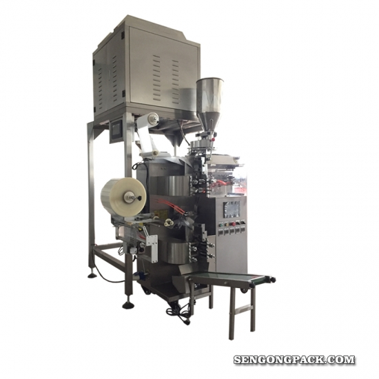 tea sachet packing machine with tag,line