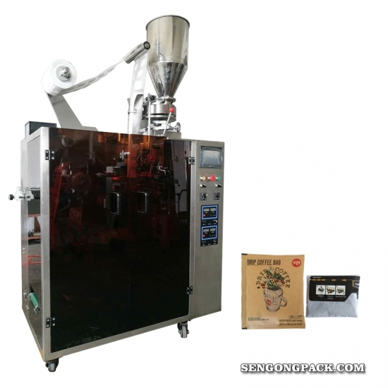 Drip Kenya Coffee Bag Packing Machine with Outer Envelop