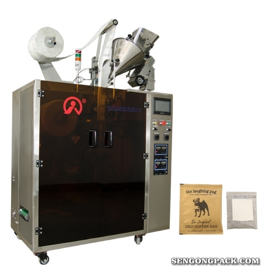 Drip Bag Packing Machine for Vietnam Trungnguyen Coffee with Outer Envelop