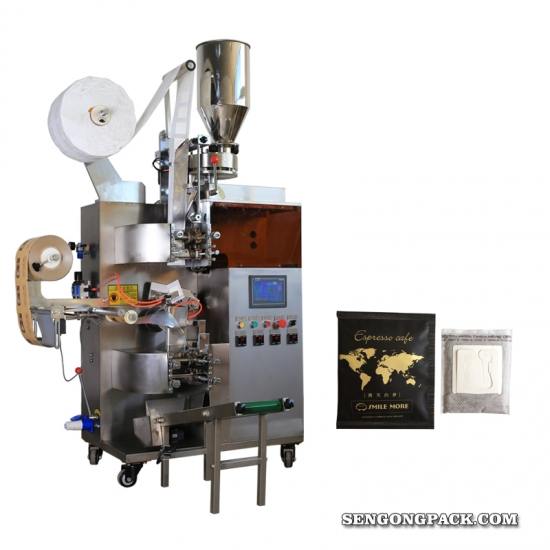 Indonesia Java Arabica Drip Coffee Bag Packing Machine with Outer Envelope
