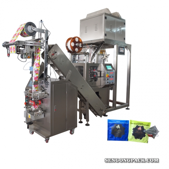 fully automatic nylon pyramide tea bag packing machine