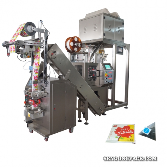 fully automatic nylon pyramide Red Raspberry Leaf Tea bag packing machine