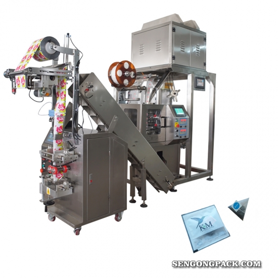 Inner and Outer pyramid Holy Basil  tea bag packing machine