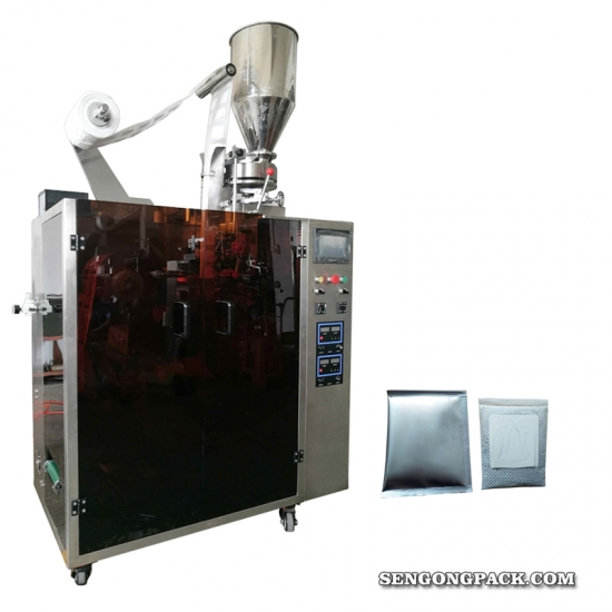 Drip Bag Packing Machine for Charcoal Coffee with Outer Envelop