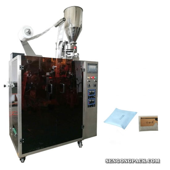 Drip Bag Packing Machine for Jamaica Prime Coffee with Outer Envelop