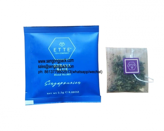 Flat Nylon tea packs for commercial machines