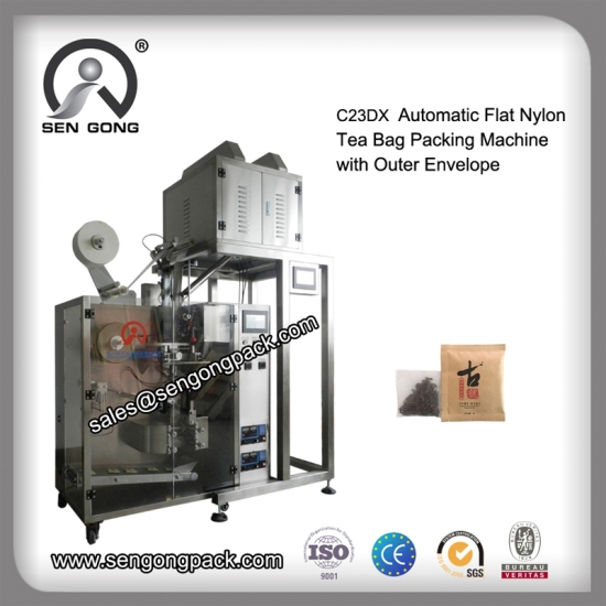 Flat Nylon tea  bags and small machine seller